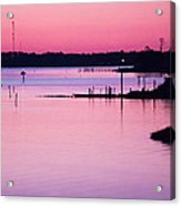 Cedar Island Pinks Acrylic Print