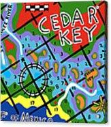 Cedar Key Chart Acrylic Print