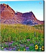 Cedar Pass At Dusk In Badlands National Park-south Dakota Acrylic Print