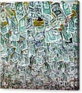 Ceiling Of Dollar Bills  Acrylic Print