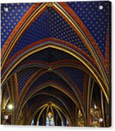 Ceiling Of The Sainte-chapelle  Paris Acrylic Print