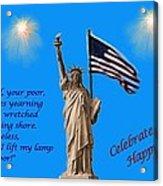 Celebrate Independence Acrylic Print