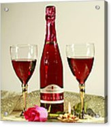 Celebrate With Sparkling Rose Wine Acrylic Print