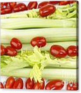Celery And Tomatoes Acrylic Print