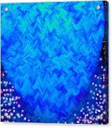 Celestial Blue Heart Acrylic Print