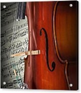 Cello Bridge And Beethoven Acrylic Print