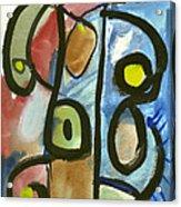 Cello In Blue Acrylic Print