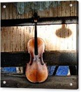 Cello Neck Blues Acrylic Print