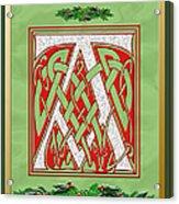 Celtic Christmas A Initial Acrylic Print