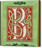 Celtic Christmas B Initial Acrylic Print