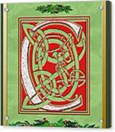 Celtic Christmas C Initial Acrylic Print