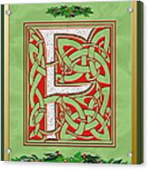 Celtic Christmas F Initial Acrylic Print