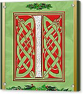 Celtic Christmas I Initial Acrylic Print