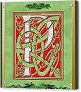 Celtic Christmas P Initial Acrylic Print