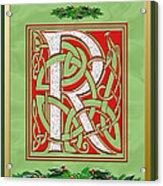 Celtic Christmas R Initial Acrylic Print