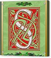 Celtic Christmas S Initial Acrylic Print
