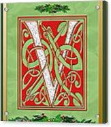 Celtic Christmas V Initial Acrylic Print