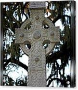 Celtic Cross In Savannah Acrylic Print