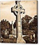 Celtic Cross In Sepia 1 Acrylic Print