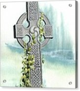 Celtic Cross With Ivy II Acrylic Print