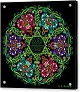 Celtic Fairy Mandala Acrylic Print