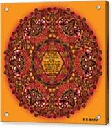 Celtic Fall Fairy Mandala Acrylic Print