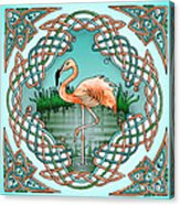 Celtic Flamingo Art Acrylic Print