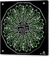 Celtic Flower Of Death Acrylic Print