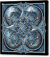 Celtic Hearts - Blue And Silver Acrylic Print