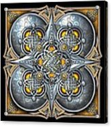 Celtic Hearts - Gold And Silver Acrylic Print by Richard Barnes