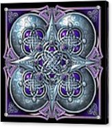 Celtic Hearts - Purple And Silver Acrylic Print by Richard Barnes