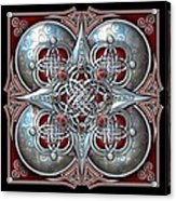 Celtic Hearts - Red Acrylic Print