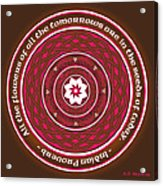 Celtic Lotus Mandala In Pink And Brown Acrylic Print