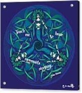 Celtic Mermaid Mandala In Blue And Green Acrylic Print