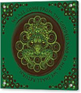Celtic Pagan Fertility Goddess Acrylic Print