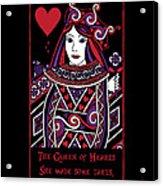 Celtic Queen Of Hearts Part I Acrylic Print