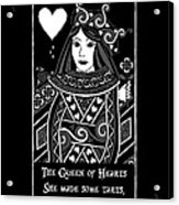 Celtic Queen Of Hearts Part I In Black And White Acrylic Print