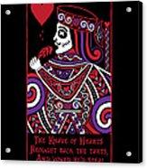 Celtic Queen Of Hearts Part Iv The Broken Knave Acrylic Print