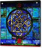 Celtic Stained Glass Horizontal Acrylic Print