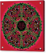 Celtic Summer Fairy Mandala Acrylic Print