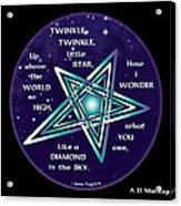 Celtic Twinkle Twinkle Acrylic Print