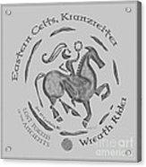 Celtic Wreath Rider Coin Acrylic Print