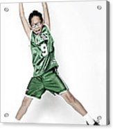Celtics Fan Acrylic Print by Tolga Kavut