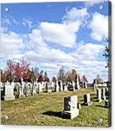 Cemetery At Gettysburg National Battlefield Acrylic Print by Brendan Reals