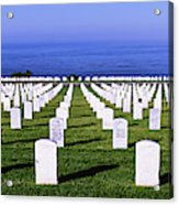 Cemetery At Waterfront, Fort Rosecrans Acrylic Print