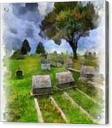 Cemetery Clouds Acrylic Print by Amy Cicconi