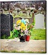 Cemetery Flowers Acrylic Print