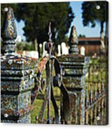 Cemetery Gate With Peeling Paint Acrylic Print