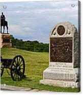 Cemetery Ridge Gettysburg Acrylic Print by James Brunker