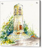 Cenotaph Clock Tower Acrylic Print by Pat Katz